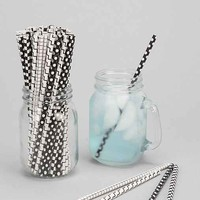 Black & White Paper Straw Set - Black & White One