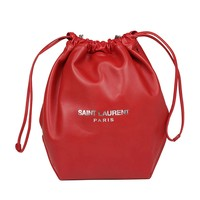 Red Leather Handbag by Saint Laurent