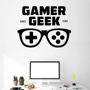 Wall Vinyl Decal Game Words Cloud Gamer Since Geek Ever Decor Unique Gift z4753