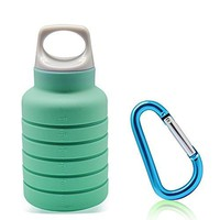Collapsible Water Bottle Leak Proof Portable Drinking Bottles Foldable Outdoor Silicone Water Bottle