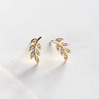 Sterling Silver + 18K Gold-Plated Post Earring - Urban Outfitters