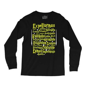 Expelliarmus Harry Potter Spell Long Sleeve Shirts