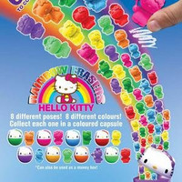 Hello Kitty Coin Capsule Set of 8 with Eraser Kitty Figure Surprise Inside