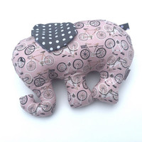 Pink Elephant - Stuffed Elephant - Girls Baby Shower Gift - Nursery Decor - Elephant Plushie - Girls Stuffed Animal