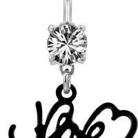 Love Belly Ring-Navel Ring-Body Jewelry