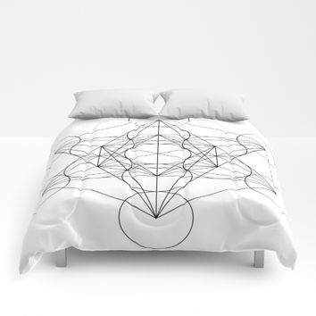 Sacred Geometry : Metatron's Cube / The Map of Creation Comforters by SimplyChic