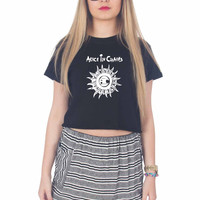 Alice In Chains White For Womens Crop Shirt **