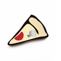 Inlay Pizza Brooch