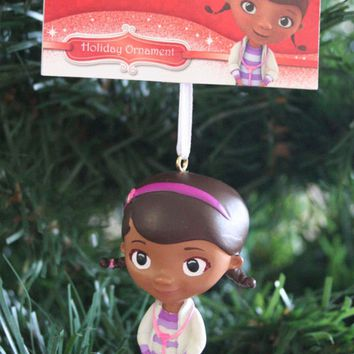 Licensed cool 2013 DOC MCSTUFFINS PET DOCTOR DOTTIE FIGURAL CHRISTMAS TREE HOLIDAY ORNAMENT