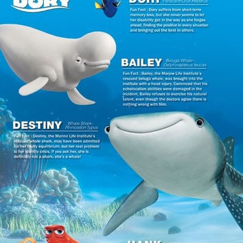 Finding Dory - Group Movie Poster 23x34 RP14106 UPC882663041060 Disney Pixar
