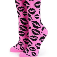 Married To The Mob Kiss Crew Socks