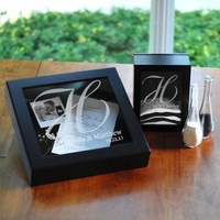 The Wedding Shadow Box Set in Black