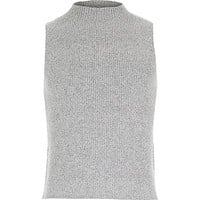 Girls grey turtle neck jumper