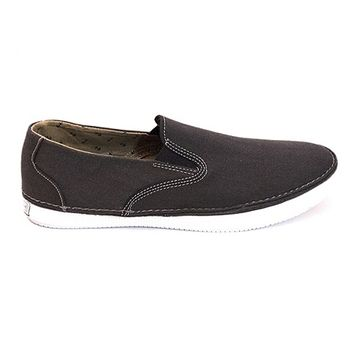 Sperry Top-Sider Cruz Slip-On - Black Canvas Comfort Sneaker