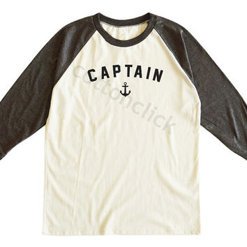 Nautical Anchor Shirt Anchor Tank Captain Shirt Sailing Boat Shirt Cool Shirt Unisex Tee Men Tee Women Tee Raglan Tshirt Baseball Tee Shirt