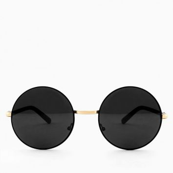 AUGUST SUNGLASSES IN BLACK AND GOLD