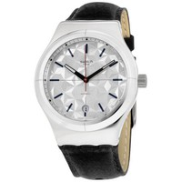 Free Shipping - Swatch Irony Sistem Puzzle White Dial Leather Strap Men's Watch YIS408 [ YIS408] - $93.09 | CertifiedWatchsShop - 11