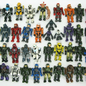 Halo 1 2 3 4 5 Xbox One Series 15 piece Mega Bloks Action Figure Toy Game Gamer pack