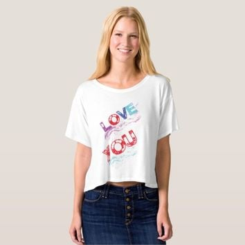 Women Funny T-shirt-Love you T-shirt