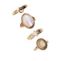 Iridescent Stone Ring Set