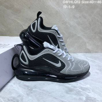 KUYOU N957 Nike Air Max 720 Nano - drop molded version of cushioned running shoes Black Gray