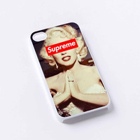 marilyn monroe supreme iPhone 4/4S, 5/5S, 5C,6,6plus,and Samsung s3,s4,s5,s6