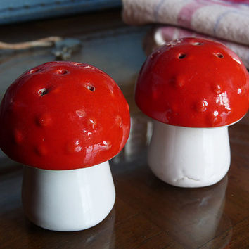 Mushroom Salt and Pepper Shaker French Vintage