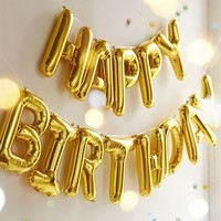 Happy Birthday Metallic Party Balloon Kit | Urban Outfitters