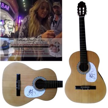 Lindsay Ell Autographed Full Size 39 Inch Country Music Acoustic Guitar, Proof Photo