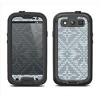 The Knitted Snowflake Fabric Pattern Samsung Galaxy S3 LifeProof Fre Case Skin Set
