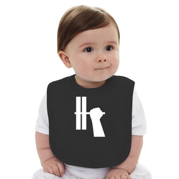 WORKOUT BAR SHIRT-WHITE Baby Bib