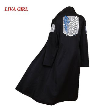 Cool Attack on Titan Anime  Cosplay Levi Rivaille Cloak Trench Adult Halloween Carnival Cosplay Costume  cape M-2XL AT_90_11