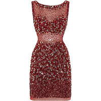 Jovani Embellished Backless Mini Dress