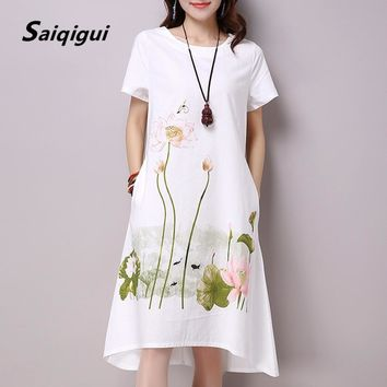 Plus Size Short Sleeves Floral Graduation Dress