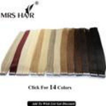 Tape In Human Hair Extensions 20pcs Natural Black Remy Brazilian Straight Skin