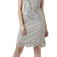 Sleeveless Beaded Cocktail Dress - Adrianna Papell