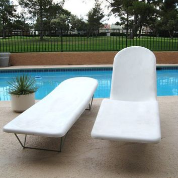 60s MID CENTURY MODERN Pair Molded Fiberglass Pool by fabulousmess