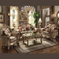 Acme Vendome Gold Collection Living Room Set