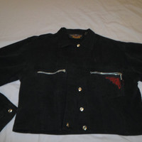 Black Denim Harley Davidson Jacket