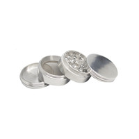 Four Piece Metal Grinder - Silver - 2.25 Inches