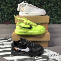 Off-White x Nike Air Force 1 Low Toddler Kid Shoes Child Sneakers - Best Deal Online