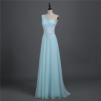 216 sky blue vintage black chiffon crystal open back formal party evening dress long prom dresses 2014 maxi plus size dresses