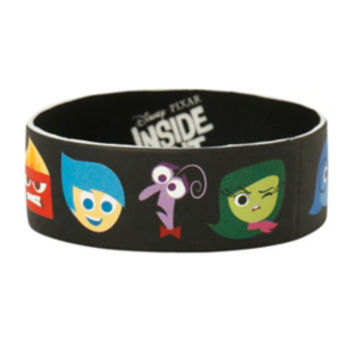 Disney Inside Out Heads Rubber Bracelet