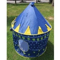 Children Kids Playhouse Castle Game Play Tent Indoor/Outdoor Blue