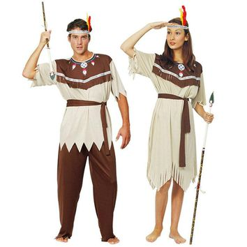Hot sale New cosplay indian halloween costumes for men ,supplies indian dress for women,couples costume