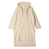 Dip Hem Hooded Dress (Ivory) | STYLENANDA