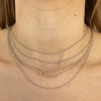 Stay Classy Layered Necklace in Silver
