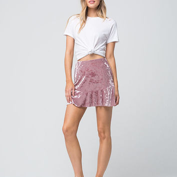 SOCIALITE Velvet Fit And Flare Skirt | Short Skirts