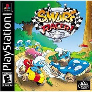 Smurf Racer (Sony PlayStation 1, 2001) Complete