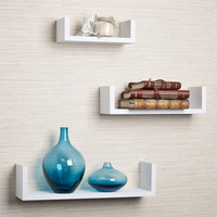 DanyaB Fini 3 Piece Floating Wall Shelf Set & Reviews | Wayfair